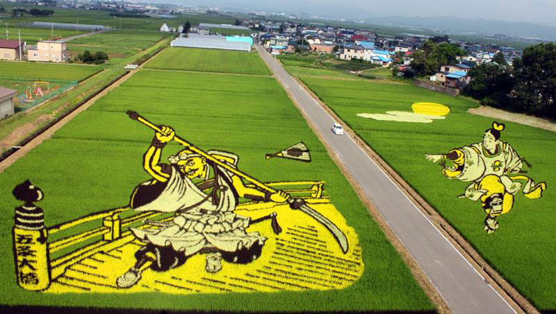 tanbo japanese rice field art (10)
